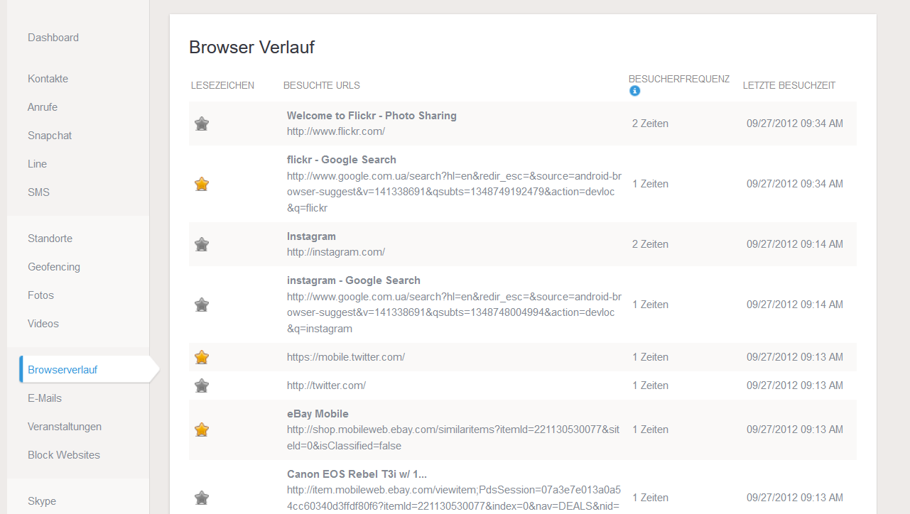 Browser Überwachung